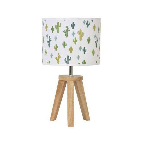 YOGA-Lampa stojąca statyw Drewno naturalne & Bawełna Wys.33cm (3188000743886)