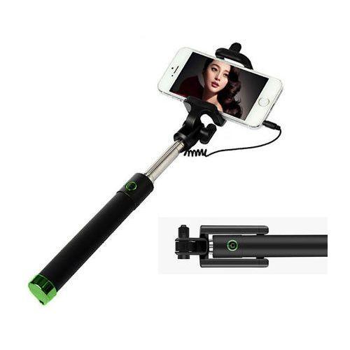 Uniwersalny uchwyt selfie stick do aparatów i smartfonów monopod - zielony marki 4kom.pl