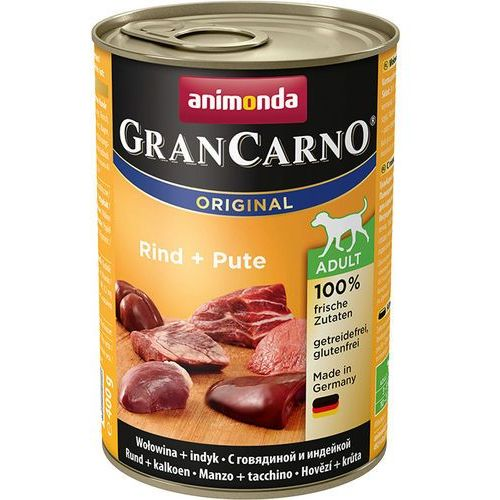 Animonda GranCarno Adult wołowina/ indyk 400g, 5575