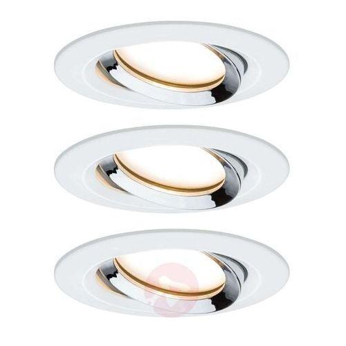 Paulmann Nova Plus 3 szt. spot LED biały-chrom