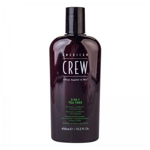 tea tree 3-in-1 - szampon, odżywka, żel pod prysznic 450ml marki American crew