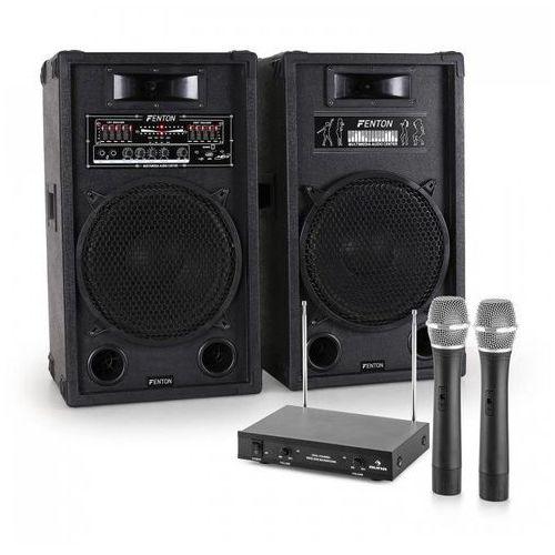 """Elektronik-star Zestaw karaoke """"star-12"""" aktywny zestaw kolumn nagłośnieniowych   2-kanałowy bezprzewodowy zestaw mikrofonowy vhf"""