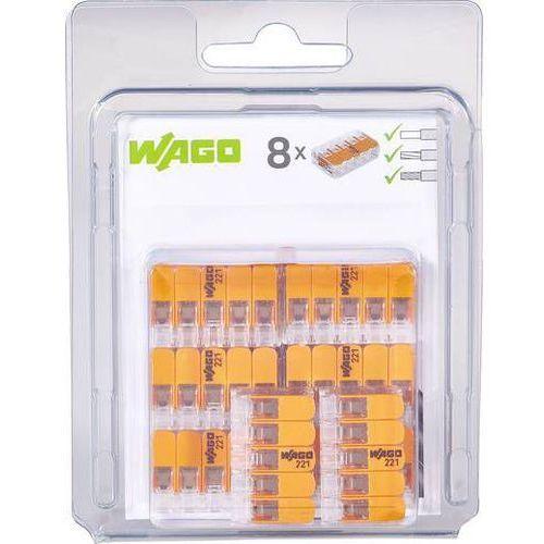 Złącze zaciskowe Ilość PIN: 5 WAGO 221-415/996-008 8 szt. przezroczysty, pomarańczowy