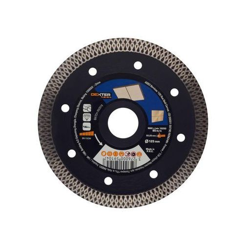 Tarcza diamentowa turbo do gresu 125x1.6x22.2 mm marki Dexter pro