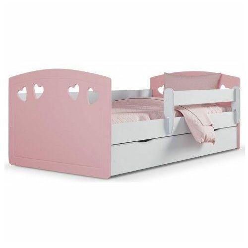 Łóżko dla dziewczynki z materacem Nolia 3X 80x140 - pudrowy róż