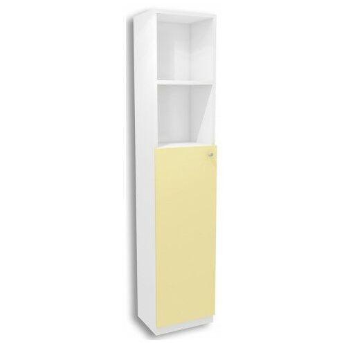 Biało-żółty regał dziecięcy lili 11x - 3 kolory marki Producent: elior