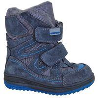 buty zimowe za kostkę chłopięce fari 21 niebieski marki Protetika