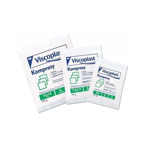 Jałowe kompresy gazowe viscoplast, bawełniane, 17-nitkowe, 8 warstw 7,5x7,5cm, 3szt. marki Viscoplast-3m