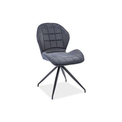 Krzesło Hals II Grafit Materiał, kolor szary
