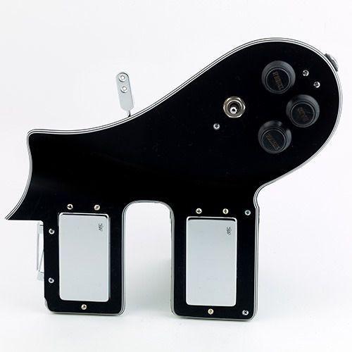 Mec az 10 2 pu pickguard with electronic, chromowany