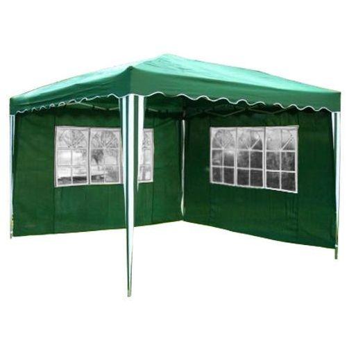 Ekspresowy pawilon namiot ogrodowy 3x3 2 ściany - zielony marki Makstor.pl
