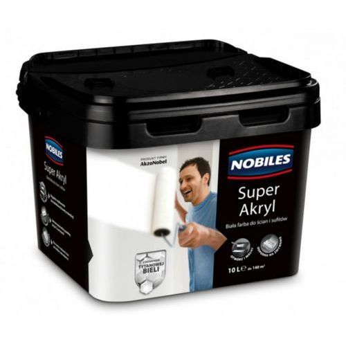 Nobiles super akryl- biała farba lateksowa, 10l
