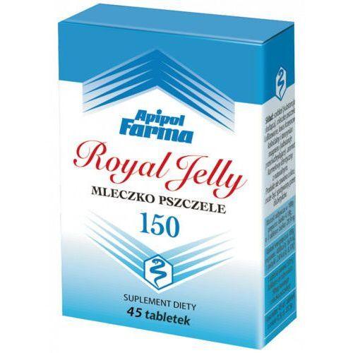 Royal jelly mleczko pszczele liofilizowane 150mg x 45 tabletek marki Apipol-farma