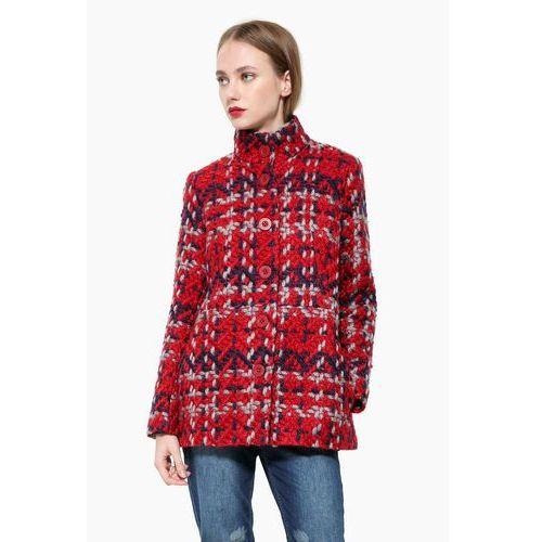 Desigual płaszcz damski 36 czerwony, poliester