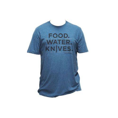 Benchmade T-shirt z nadruk. food. water. knives.