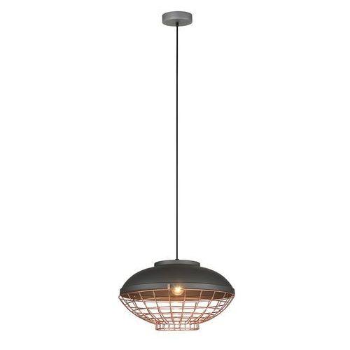 Lampa wisząca Italux Clams MDM-2941/1 GR+COP zwis 1x60W E27 grafit / miedziany (5900644331278)