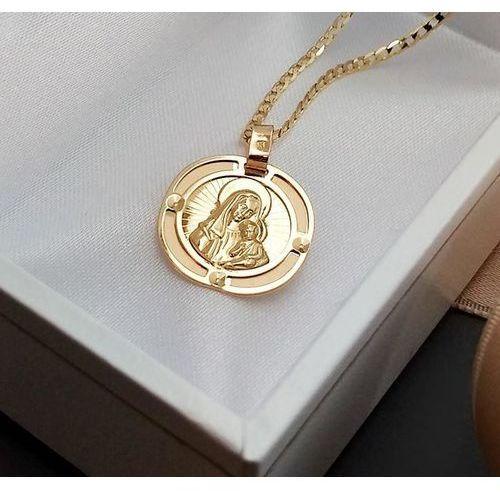 Medalik ze złota Matka Boża z Dzieciątkiem - 46060