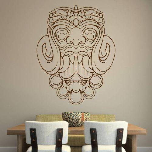 Naklejka na ścianę maska z bali 2097 marki Wally - piękno dekoracji