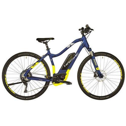 """HAIBIKE SDURO Cross 7.0 Rower elektryczny crossowy żółty/niebieski 40cm (28"""") 2018 Rowery elektryczne (4054624081354)"""
