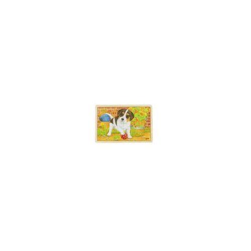 Drewniane puzzle Psotliwy szczeniaczek 24 el. Goki