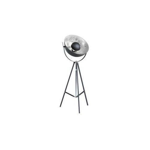 Lampa stojąca czarno-srebrna 165 cm THAMES II (4251682208901)
