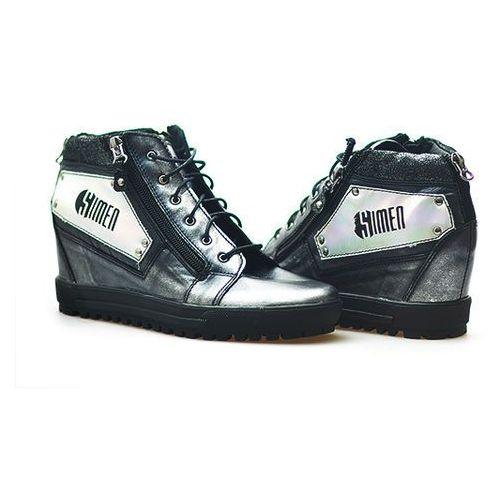 Sneakersy 0303 srebrne lico marki Simen