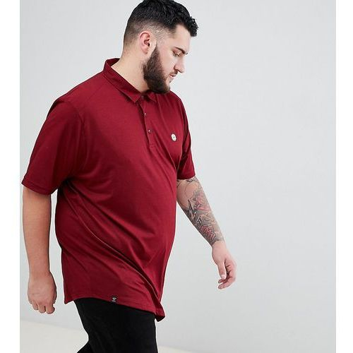 Le breve plus curved hem polo with back panelling - red