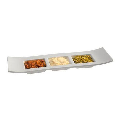 Półmisek prostokątny z melaminy na przystawki | biały | 290x90mm marki Aps