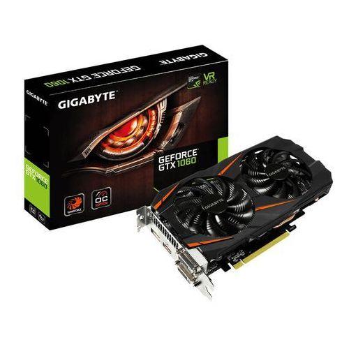 Karta graficzna Gigabyte GeForce GTX 1060 Windforce OC 6GB GDDR5 (192 Bit) 2xDVI-D, HDMI, DP, BOX (GV-N1060WF2OC-6GD) Szybka dostawa! Darmowy odbiór w 19 miastach! (4719331330309)