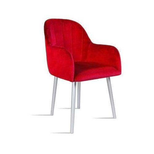 Krzesło BESSO czerwony/ noga silver/ TR9, kolor czerwony