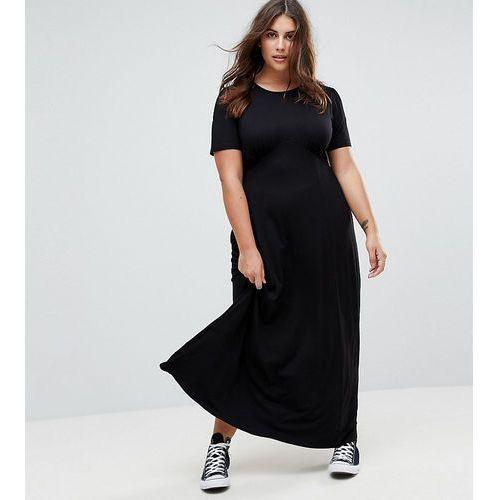 ASOS CURVE Ultimate Maxi Tea Dress - Black, kolor czarny
