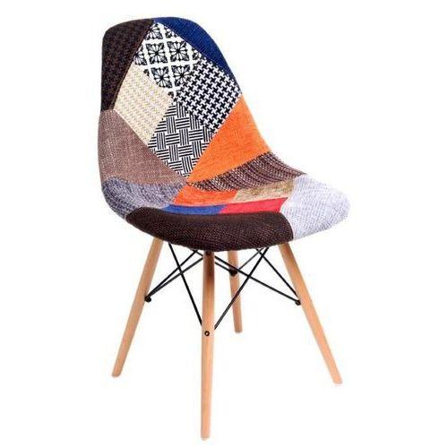 D2.design Krzesło p016w patchwork inspirowane dsw - multikolor (5902385715065)