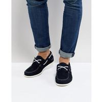 Tommy hilfiger classic suede boat shoes in navy - navy