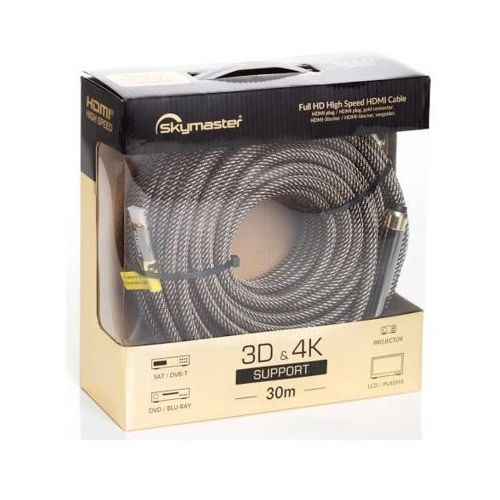 Kabel SKYMASTER HDMI - HDMI Gold 30m (5908252683772)