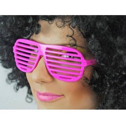 Twojestroje.pl Okulary disco żaluzje jasno różowe