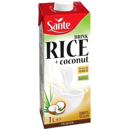 Napój ryżowo-kokosowy bez dodatku cukru 1L - Sante