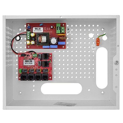 Bcs System zasilania dla 4 monitorów ip z switchem poe -sp0406