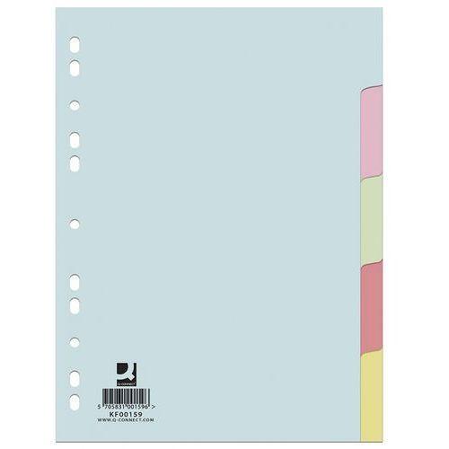 Przekładki kartonowe Q-Connect 5 kart kolorowe, 9796