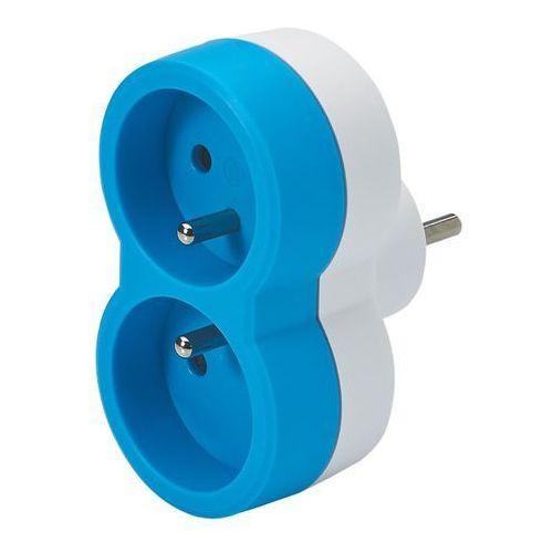 Rozgałęźnik Legrand 2 x 2 P+Z pionowy biało-niebieski