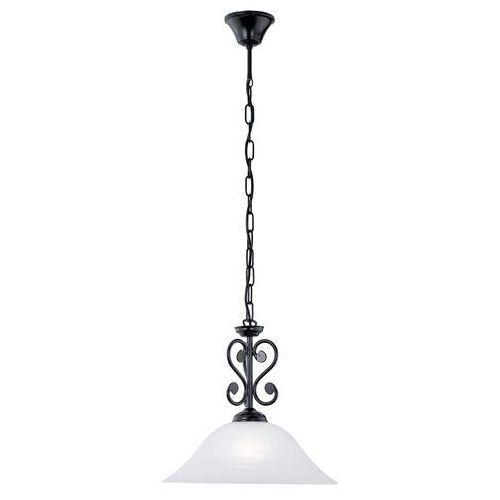 LAMPA wisząca MURCIA 91002 Eglo szklana OPRAWA zwis IP20 biały czarny, kolor Biały