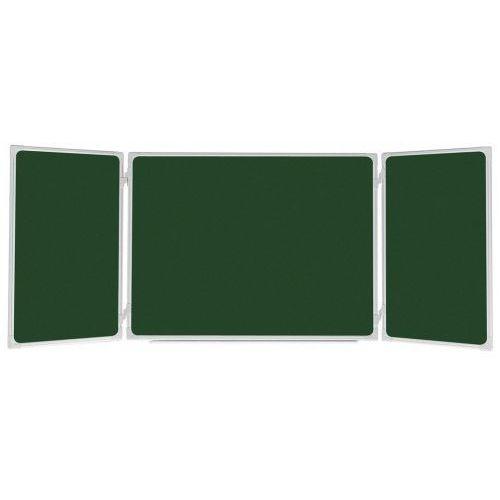 2x3 Tablica szkolna tryptyk 170x100/340 lakierowana zielona