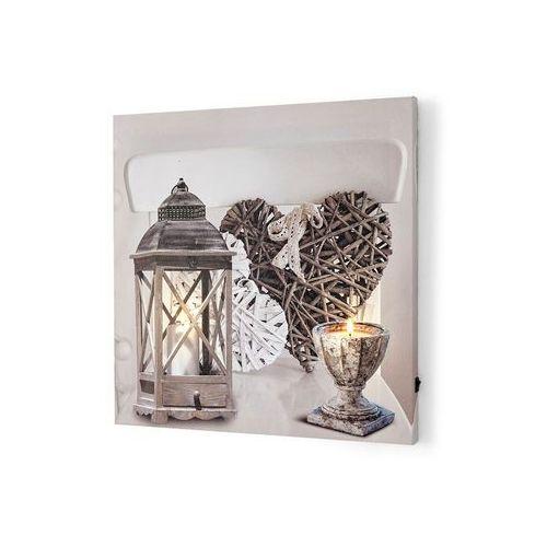 Obraz led w rustykalnym stylu jasnoszaro-biały wytarty marki Bonprix