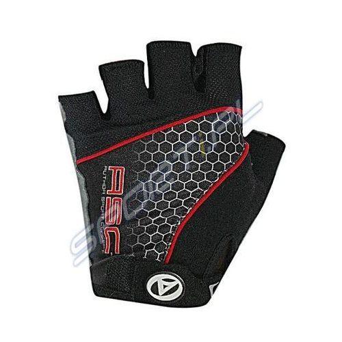 Rękawiczki kolarskie AUTHOR Men Comfort Gel czarno-czerwone