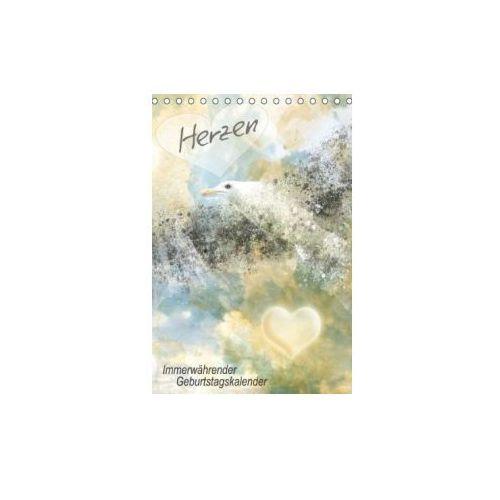 Herzen Immerwährender Geburtstagskalender (Tischkalender immerwährend DIN A5 hoch)