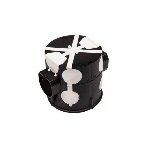 Puszka podtynkowa 60mm głęboka z membranami przebiciowymi czarna wiatroszczelna e107-2k 83107007 marki Przedsiębiorstwo simet s.a.