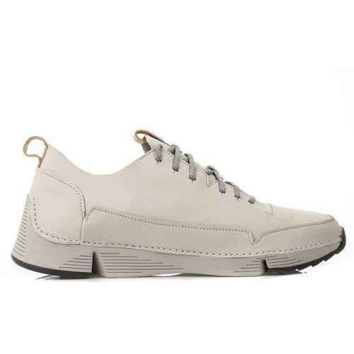 CLARKS Tri Spark White Leather (261389087), kolor biały