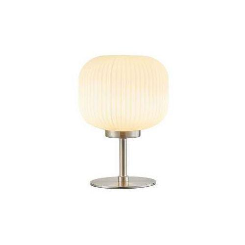 Lampa stołowa lampka premio 1x60w e14 nikiel mat / beż 522501-07 marki Reality
