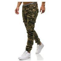 Spodnie joggery męskie moro-brązowe Denley 4949, kolor brązowy