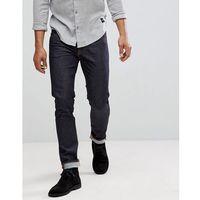 Nudie Jeans Co Tilted Tor Skinny Fit Jean Dry Pure Navy - Navy, kolor szary