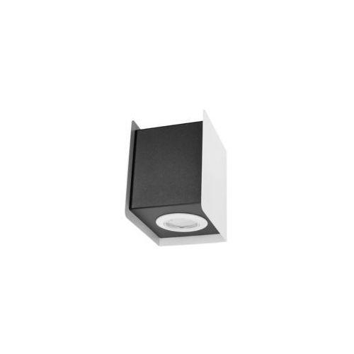 Kinkiet lampa ścienna sl.402 kwadratowa oprawa kostka metalowa cube biała czarna marki Sol